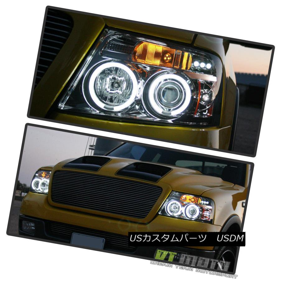 ヘッドライト 2004-2008 Ford F150 F-150 LOBO LED Dual Halo Projector Headlights 04 05 06 07 08 2004-2008 Ford F150 F-150 LOBO LEDデュアル・ハロー・プロジェクター・ヘッドライト04 05 06 07 08