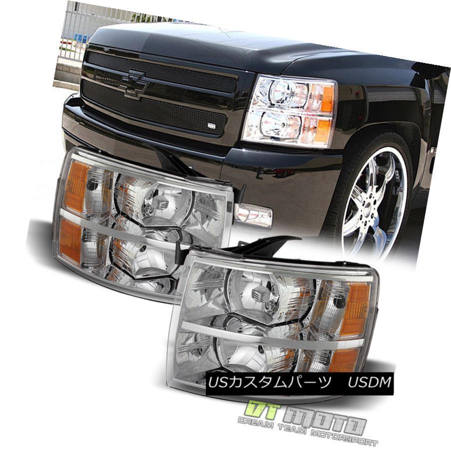 ヘッドライト 2007-2013 Chevy Silverado Replacement Headlights Headlamps 07-13 Pair Left+Right 2007?2013シボレーシルバラードの交換ヘッドライトヘッドランプ07?13ペアの左+右