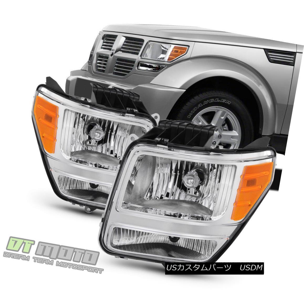 ヘッドライト Factory Style 2007-2011 Dodge Nitro Headlights Headlamps Replacement Left+Right 工場スタイル2007-2011ダッジニトロヘッドライトヘッドライト交換左+右