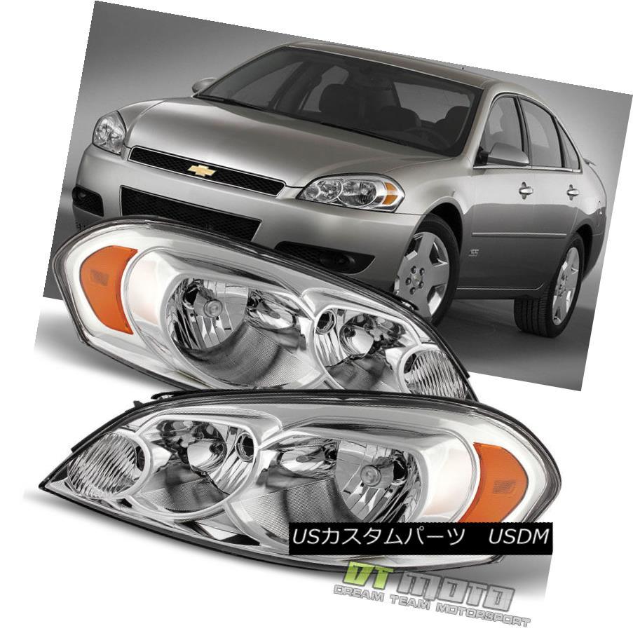 ヘッドライト 2006-2013 Chevy Impala 07 Monte Carlo Headlight Headlamps Replacement Left+Right 2006-2013シボレーインパラ07モンテカルロヘッドライトヘッドランプ交換左+右