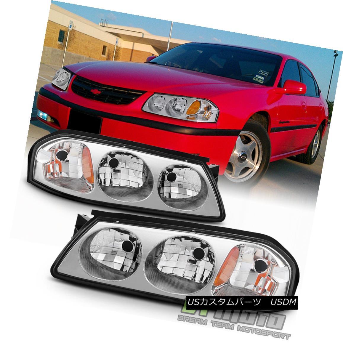 ヘッドライト 2000 2001 2002 2003 2004 2005 Chevy Impala Chrome Housing Headlights Headlamps 2000 2001 2002 2003 2004 2005シボレーインパラクロームハウジングヘッドライトヘッドランプ