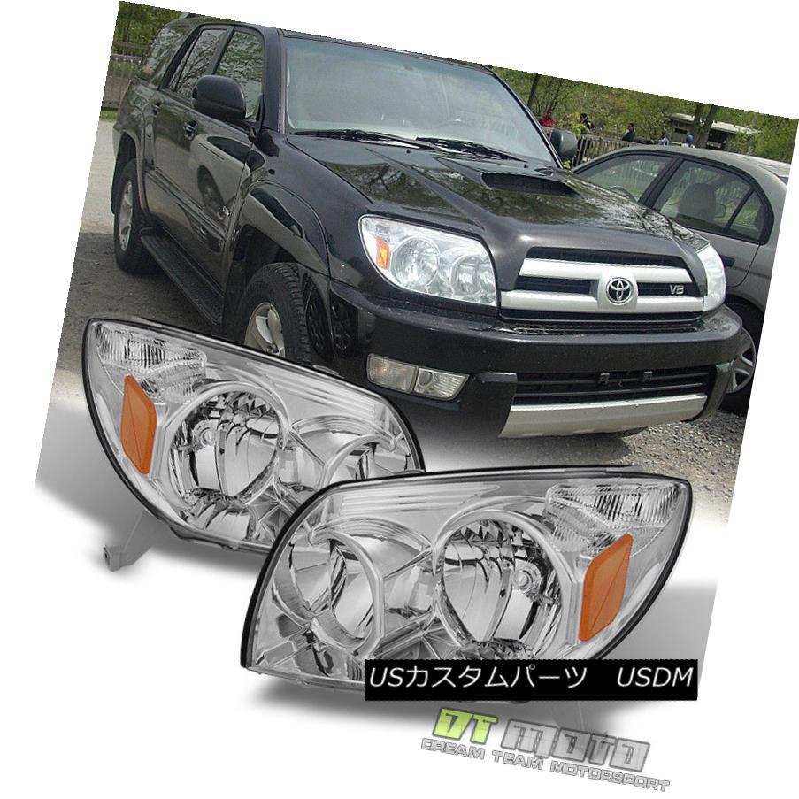 ヘッドライト 2003 2004 2005 Toyota 4Runner Replacement Headlights Lamps Pair Left+Right 03-05 2003 2004 2005トヨタ4Runner代替ヘッドライトランプペア左右03-05