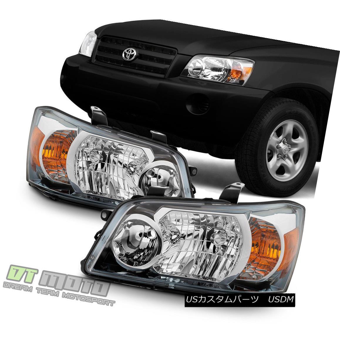 ヘッドライト 2004 2005 2006 Toyota Highlander Factory Style Headlights Replacement Headlamps 2004年2005年2006年トヨタハイランダー工場スタイルヘッドライト交換ヘッドランプ