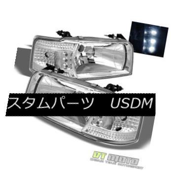 ヘッドライト 1992-1996 F150 F250 F350 Bronco 2in1 LED Headlights Built In Corner Signal Lamps 1992-1996 F150 F250 F350ブロンコ2in1 LEDヘッドライト、コーナー信号ランプ内蔵