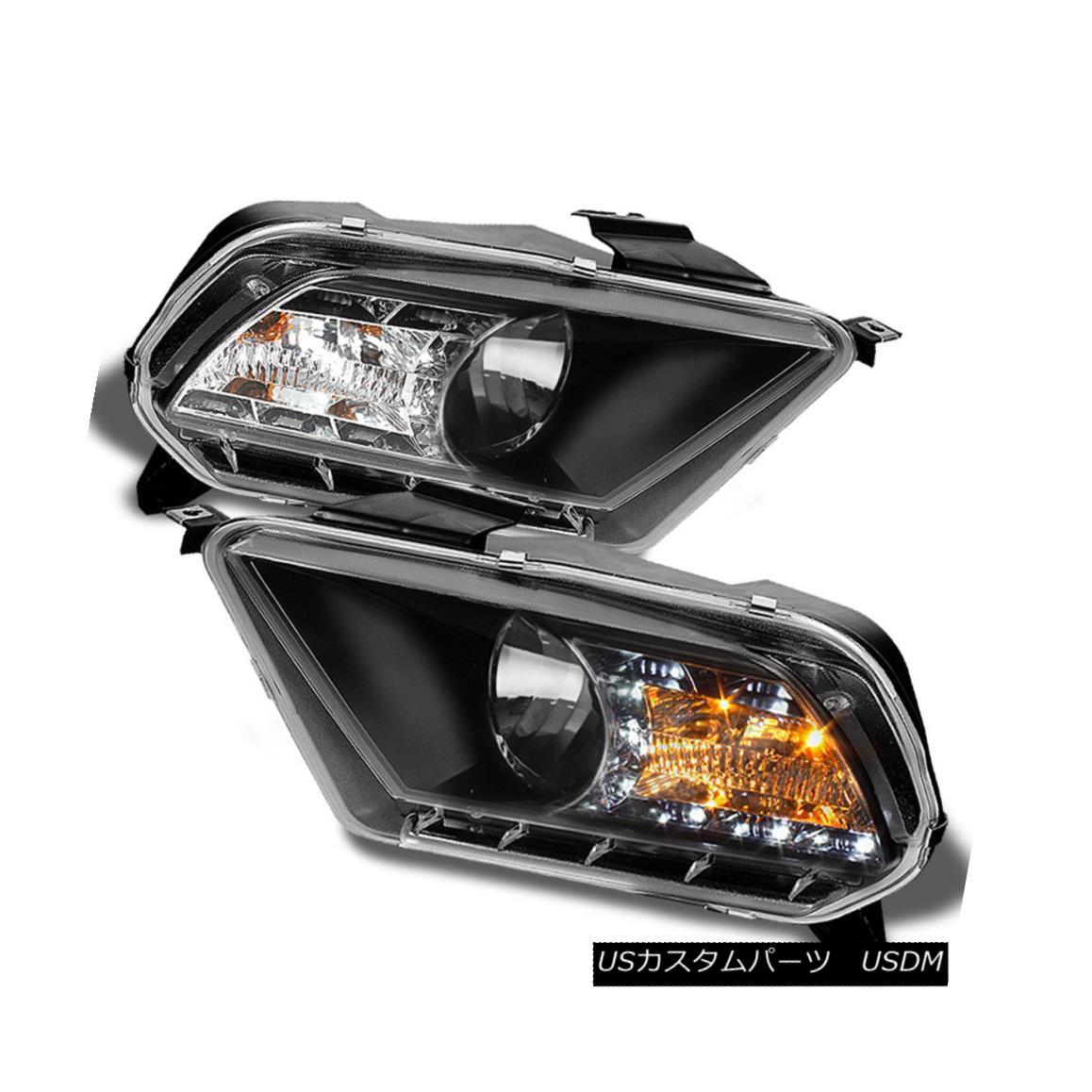 ヘッドライト Black 2010 2011 2012 2013 Mustang LED DRL Running Crysta Headlights Headlamps Black 2010 2011 2012 2013 Mustang LED DRLクリスタヘッドライトヘッドランプ