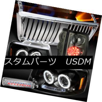 大流行中! ヘッドライト 04-08 LED F150 Black Halo Headlight+Chrome Front ヘッドライト Front Grille+3rd Stop+Tint LED Tail Lamps 04-08 F150ブラックハローヘッドライト+クロ meフロントグリル+ 3ストップ+ティントLEDテールランプ, 数量限定処分専門店TOBE屋本舗:5de87439 --- briefundpost.de