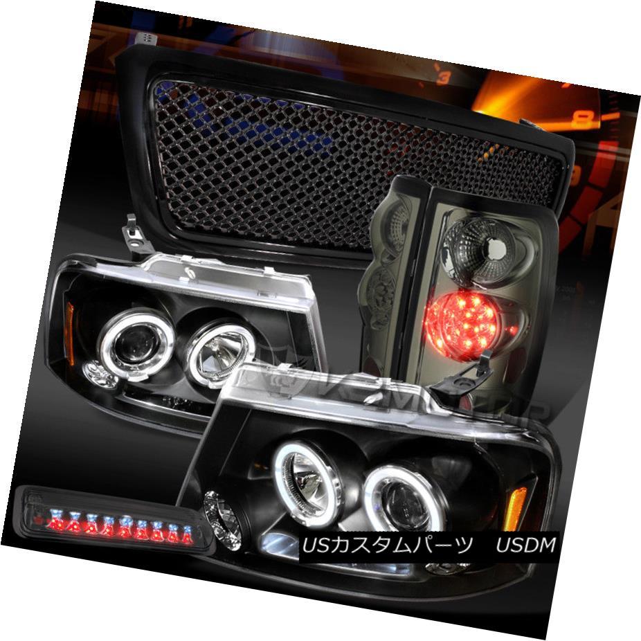 人気が高い  ヘッドライト 04-08 F150 Black F150 Halo Headlights+Mesh Grille+Smoke Grille+Smoke LED LED Tail 3rd Brake Lamps 04-08 F150ブラックハローヘッドライト+メス hグリル+スモークLEDテール第3ブレーキランプ, Link Support:a6a6e74e --- briefundpost.de