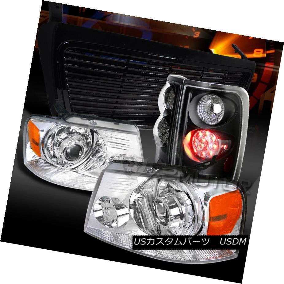 安価 ヘッドライト 04-08 04-08 Ford Chrome F150 Chrome Projector Headlights+Black Lamps+Hood LED Tail Lamps+Hood Grille 04-08 Ford F150クロームプロジェクターヘッドライト+ Bla ck LEDテールランプ+フードグリル, 最も優遇の:46bd2fb1 --- briefundpost.de
