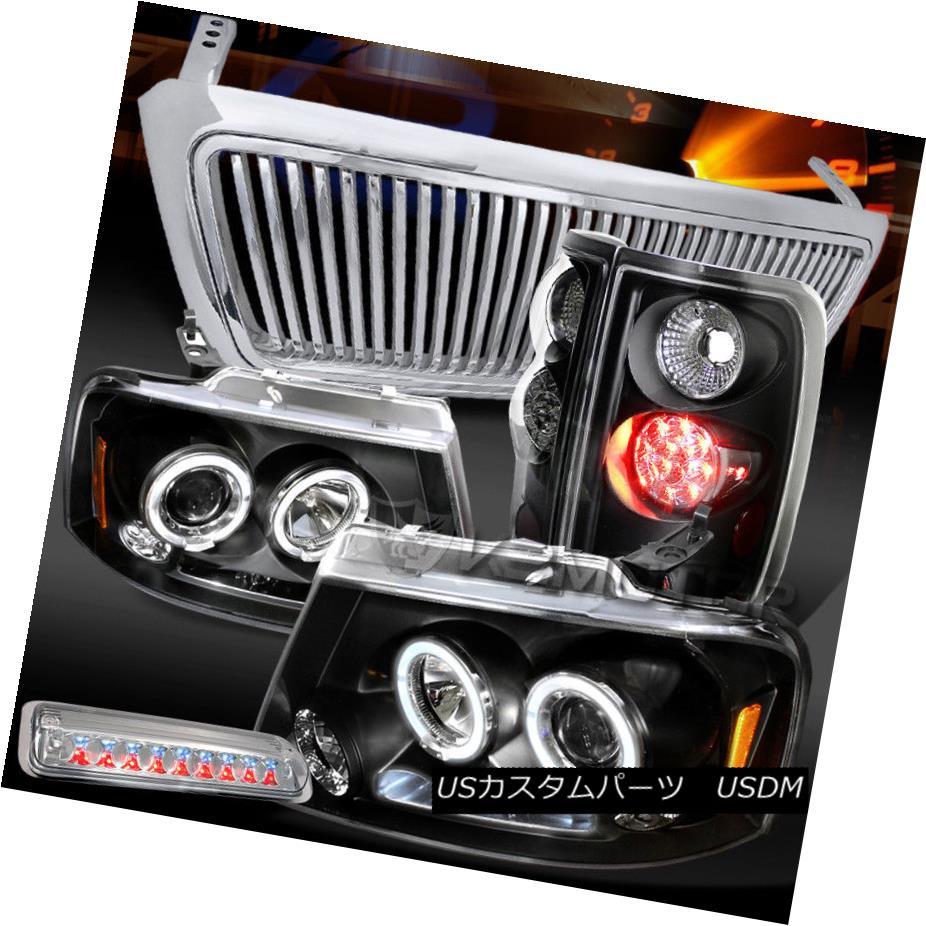 ヘッドライト 04-08 F150 LED Black Projector Headlights+LED Tail+Clear 3rd Brake Light+Grille 04-08 F150 LEDプロジェクターヘッドライト+ LEDテール+クリア第3ブレーキライト+グリル