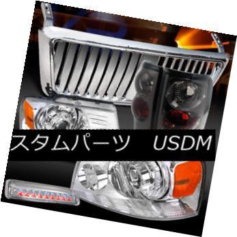 ヘッドライト 04-08 F150 Chrome Projector Headlights+Front Grille+LED 3rd Stop+Tint Tail Lamps 04-08 F150クロームプロジェクターヘッドライト+  ntグリル+ LED第3ストップ+ティントテールランプ用