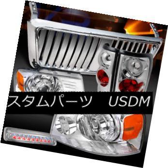 ヘッドライト 04-08 F150 Chrome Projector Headlights+Tail Lamps+Front Grille+LED 3rd Brake 04-08 F150クロームプロジェクターヘッドライト+タイ lランプ+フロントグリル+ LED第3ブレーキ