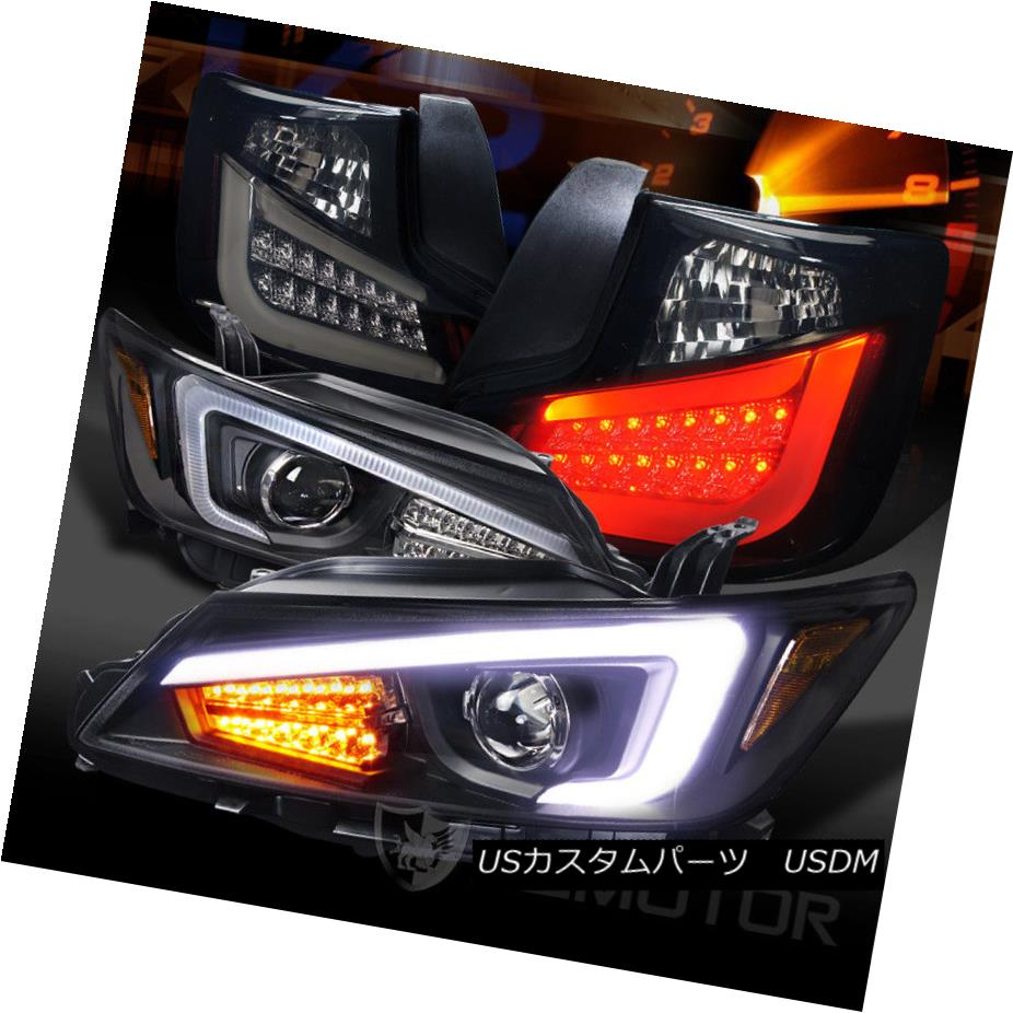 ヘッドライト 11-13 Scion tC LED Signal DRL Projector Headlights+Glossy Black LED Tail Lamps 11-13 Scion tC LED信号DRLプロジェクターヘッドライト+グロー ssyブラックLEDテールランプ