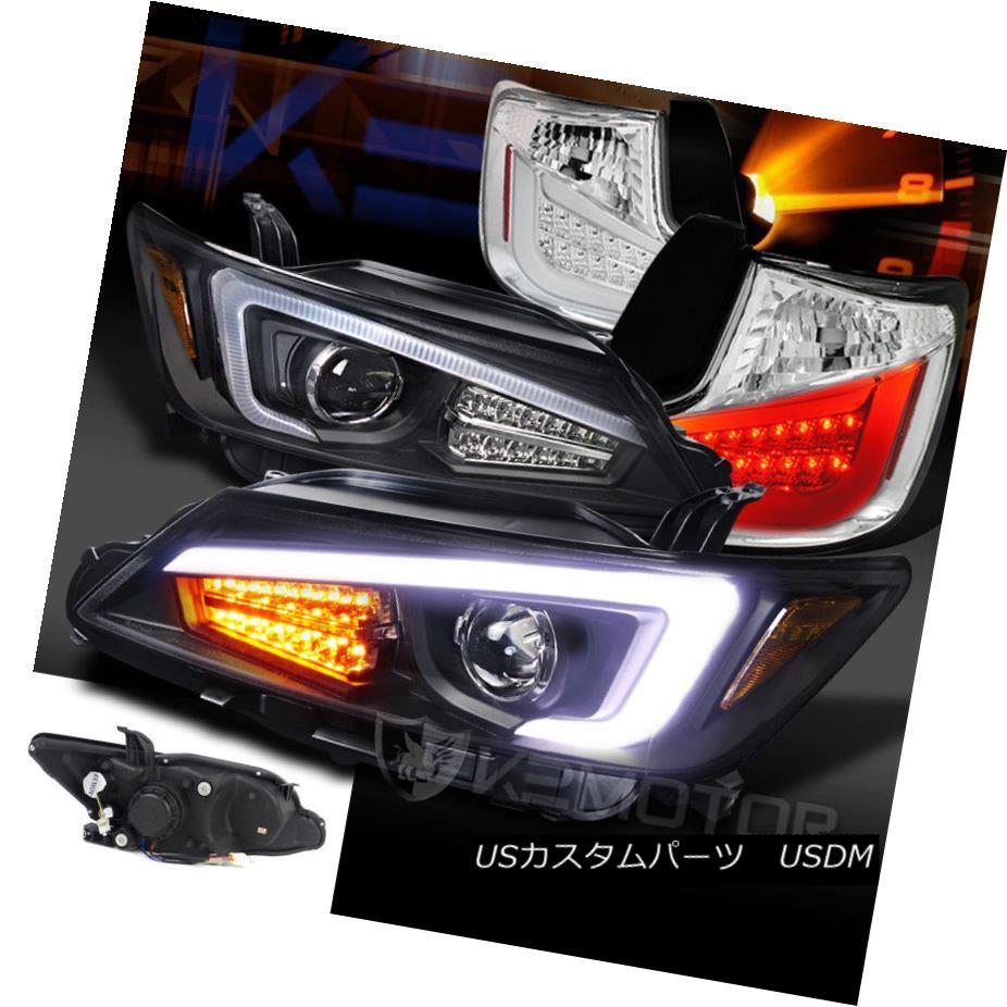 ヘッドライト 11-13 Scion tC Black LED Light Bar+Signal Projector Headlights+Clear Tail Lamps 11-13 Scion tCブラックLEDライトバー+信号プロジェクターヘッドライト+ Cle  arテールランプ