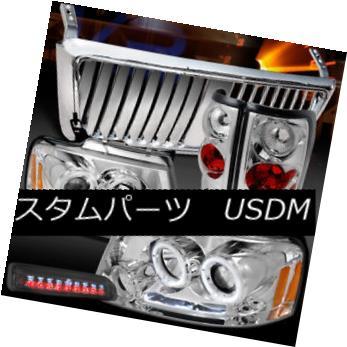 ヘッドライト 04-08 F150 Chrome LED Halo Headlights+Front Grille+Tail Lamp+Smoke 3rd Brake 04-08 F150クロームLEDハローヘッドライト+  ntグリル+テールランプ+第3ブレーキ煙