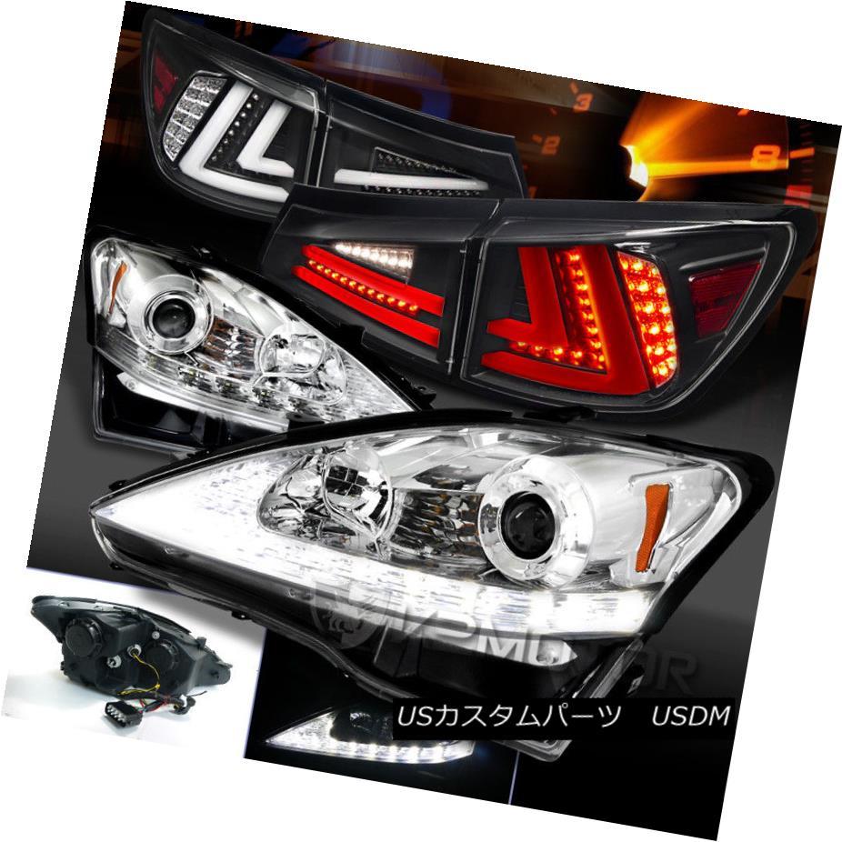 ヘッドライト 06-08 Lexus IS250 Clear LED DRL Signal Projector Headlights+Black LED Tail Lamps 06-08 Lexus IS250クリアLED DRLシグナルプロジェクターヘッドライト+ Bla  ck LEDテールランプ