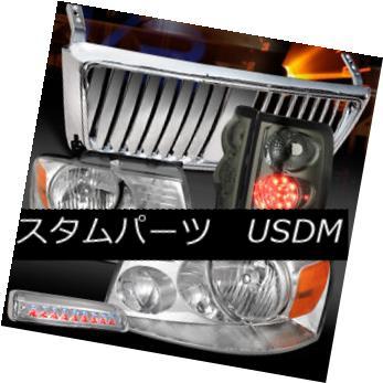 ヘッドライト 04-08 F150 Chrome Headlights+Front Grille+3rd Stop+Smoke LED Tail Lamps 04-08 F150クロームヘッドライト+  ntグリル+ 3ストップ+スモークLEDテールランプ用