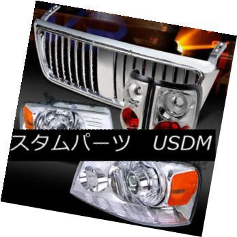 ヘッドライト 04-08 F150 Chrome Projector Headlights+Tail Lamps+Vertical Grille 04-08 F150クロームプロジェクターヘッドライト+タイ lランプ+垂直グリル