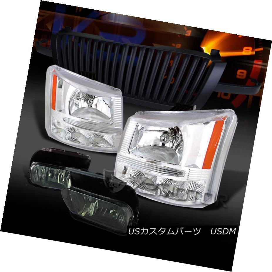 ヘッドライト 03-05 Silverado 1500 Chrome Headlights+Smoke Fog Lamps+Black Grille 03-05 Silverado 1500 Chromeヘッドライト+スモーキー keフォグランプ+ブラックグリル
