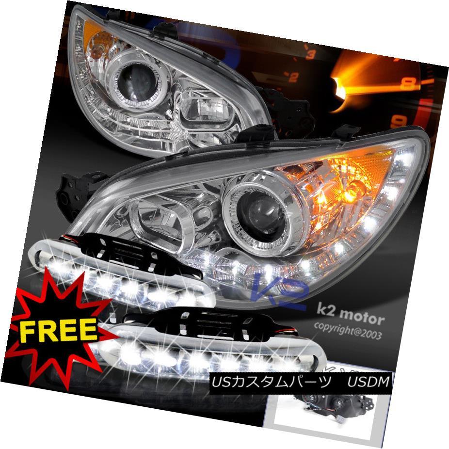 ヘッドライト For 06-07 Subaru Impreza WRX STi Projector R8 Headlights+LED Bumper Fog Lamps 06-07スバルインプレッサWRX STiプロジェクターR8ヘッドライト+ LEDバンパーフォグランプ