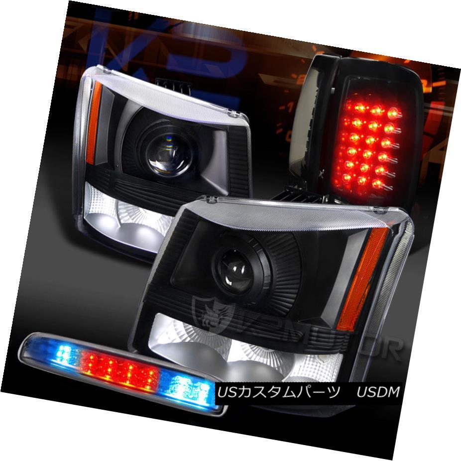 ヘッドライト 03-06 Silverado Projector Headlights+Piano Black Tail Lamps+Clear LED 3rd Brake 03-06 Silveradoプロジェクターヘッドライト+ Pia ブラックテールランプなし+クリアLED第3ブレーキ