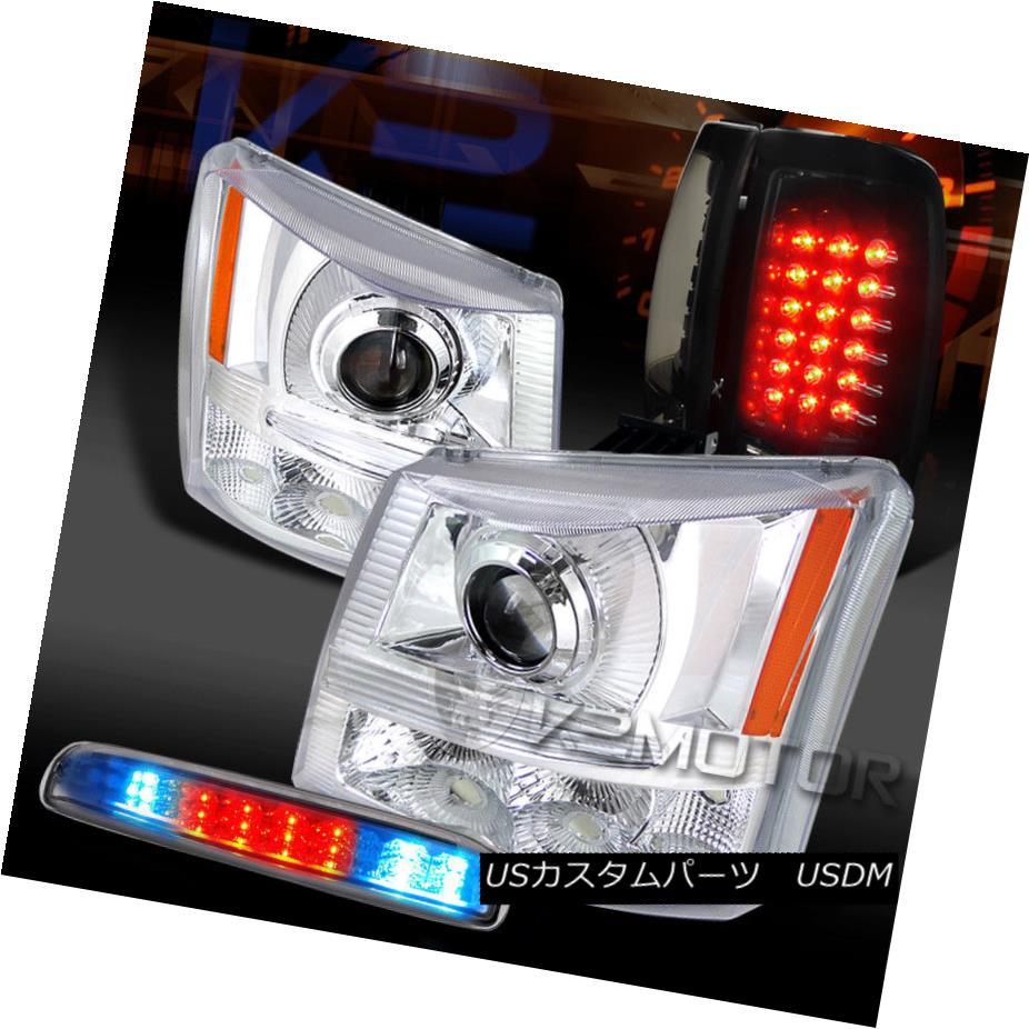 ヘッドライト 03-06 Silverado Clear Projector Headlight+LED 3rd Stop+Piano Black LED Tail Lamp 03-06 Silveradoクリアプロジェクターヘッドライト+ LED第3ストップ+ピアノブラックLEDテールランプ