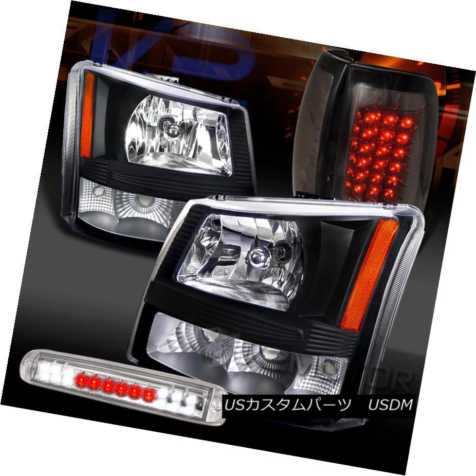 ヘッドライト 03-06 Silverado Black Headlights+Clear LED 3rd Brake+Smoke LED Tail Lamps 03-06 Silverado Blackヘッドライト+ Cle  ar LED第3ブレーキ+スモークLEDテールランプ