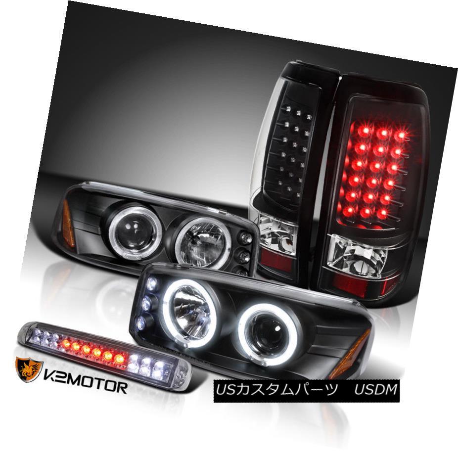 ヘッドライト 04-06 Sierra Black Projector Headlights+LED Tail Lamps+Smoke LED 3rd Brake 04-06シエラブラックプロジェクターヘッドライト+ LEDテールランプ+スモークLED第3ブレーキ