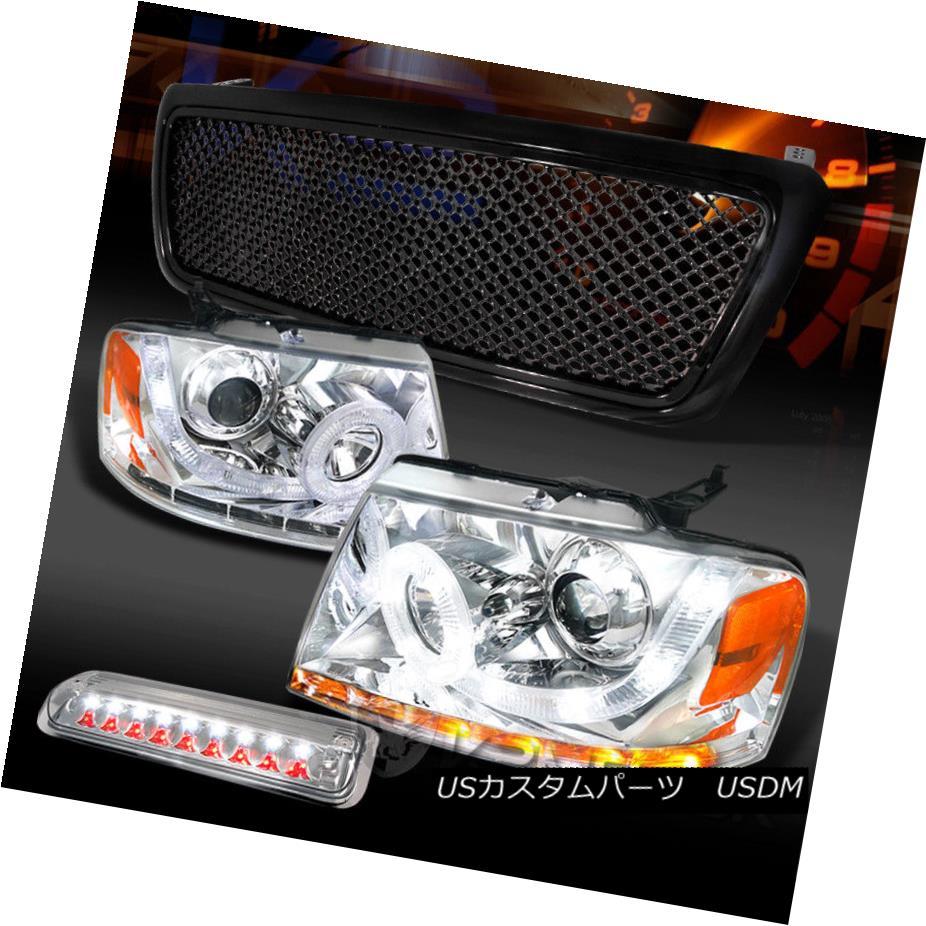 ヘッドライト 04-08 F150 Chrome SMD DRL Signal Projector Headlights+LED 3rd Brake+Black Grille 04-08 F150クロムSMD DRLシグナルプロジェクターヘッドライト+ LED第3ブレーキ+ブラックグリル