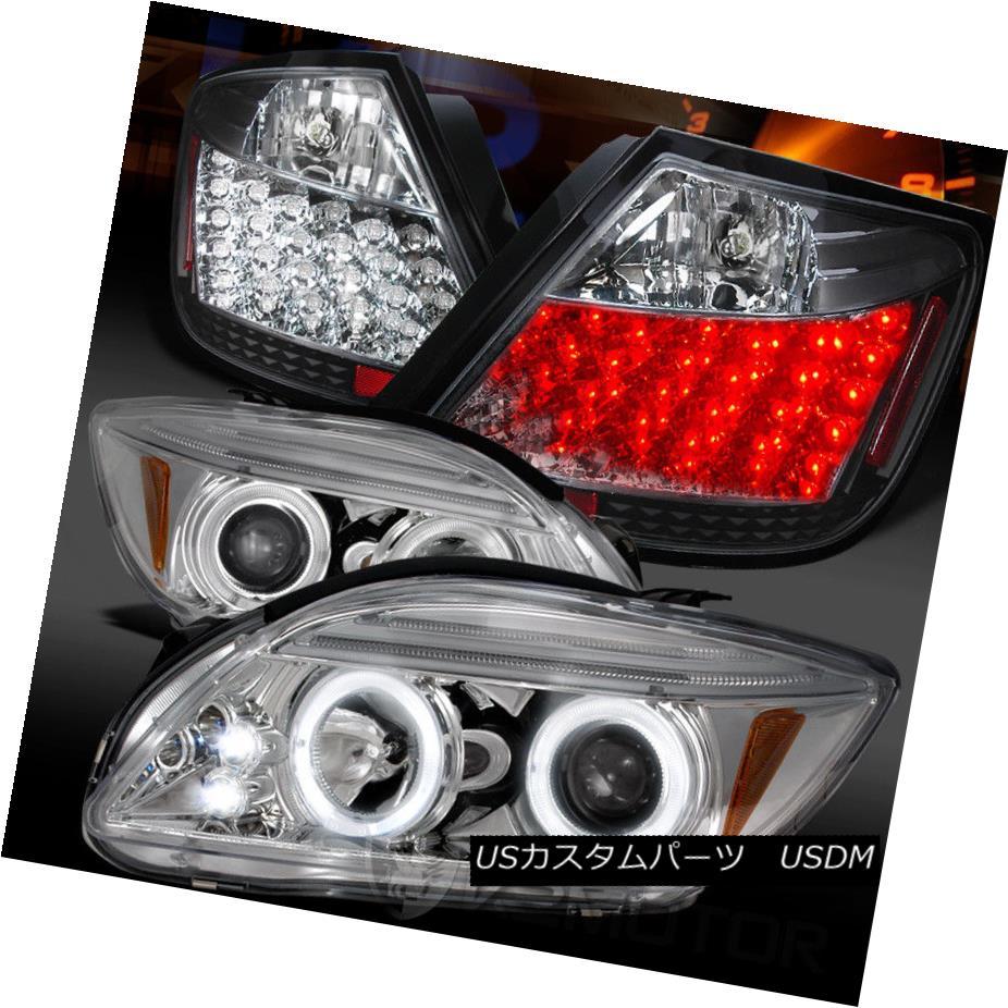 ヘッドライト 05-10 Scion tC Chrome Halo Projector Headlights+Black LED Tail Lamps 05-10 Scion tCクロームハロープロジェクターヘッドライト+ Bla  ck LEDテールランプ