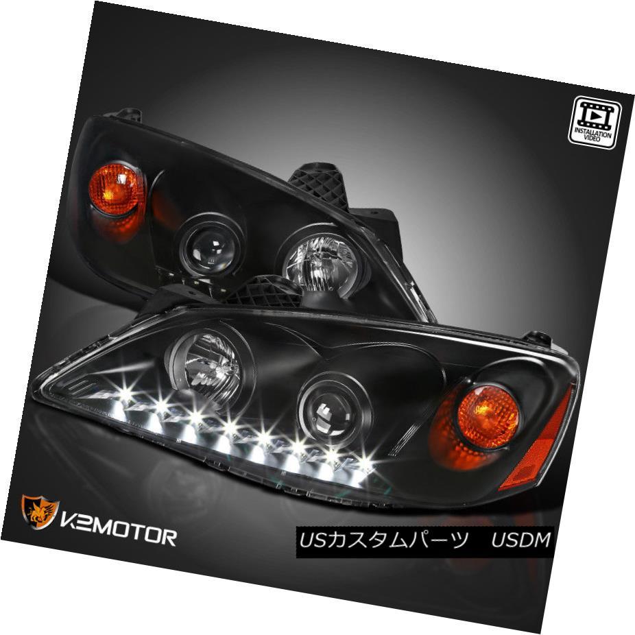 ヘッドライト 2005-2010 Pontiac G6 LED Projector Headlights Head Lamps Black Left+Right 2005-2010ポンティアックG6 LEDプロジェクターヘッドライトヘッドランプブラック左+右