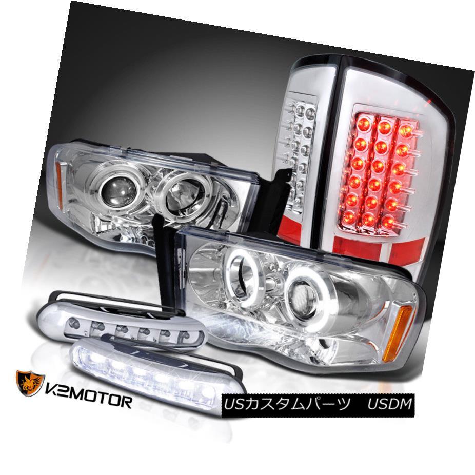 ヘッドライト 2002-2005 Dodge Ram Projector Head Lights+LED Brake Tail Lamps+LED DRL Fog 2002-2005 Dodge Ramプロジェクターヘッドライト+ LEDブレーキテールランプ+ LED DRLフォグ