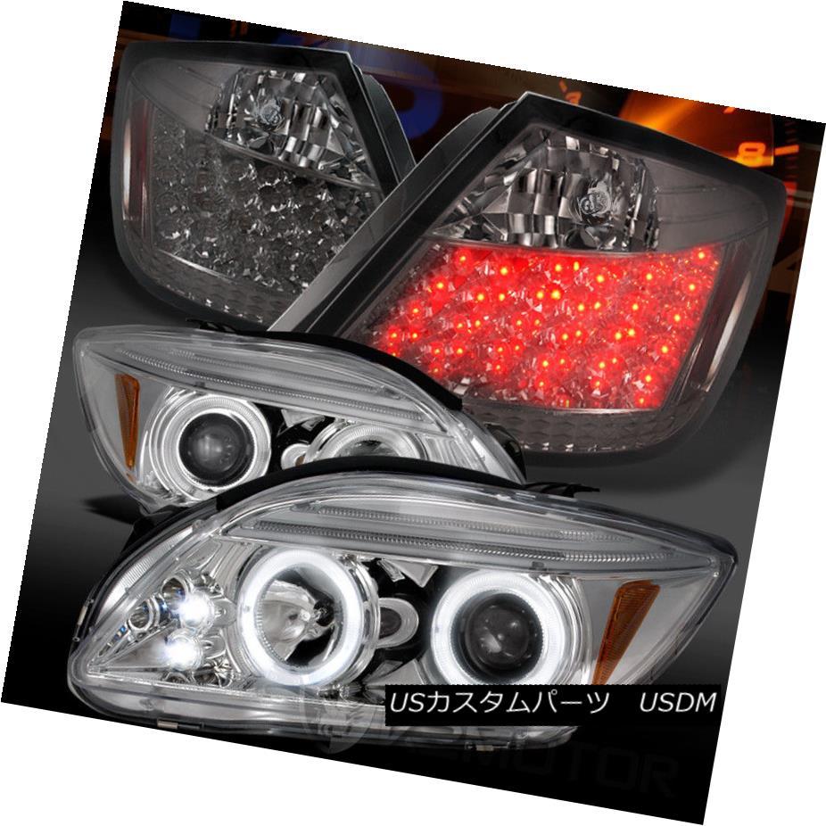 ヘッドライト 05-10 Scion tC Chrome Halo Projector Headlights+Smoke LED Tail Lamps 05-10 Scion tCクロームハロープロジェクターヘッドライト+スモーク ke LEDテールランプ