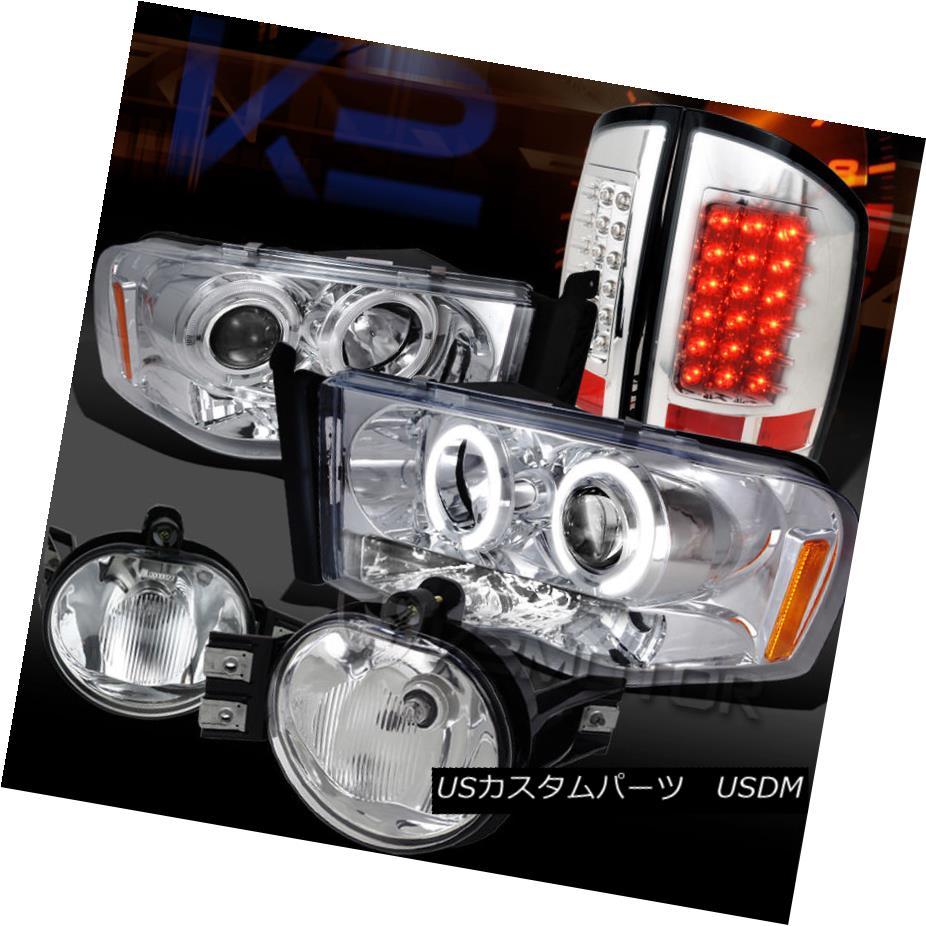 ヘッドライト 02-05 DODGE RAM PROJECTOR HEADLIGHTS+LED TAIL LAMPS+FOG LIGHTS 02-05ドッジRAMプロジェクターヘッドライト+ LEDテールランプ+フォグライト