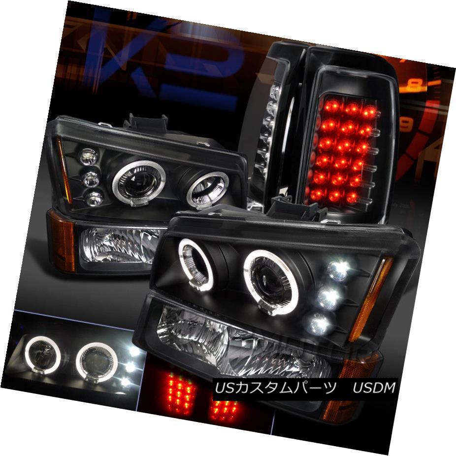 ヘッドライト 03-06 Silverado Black Projector Headlights+Bumper Park+LED Tail Brake Lights 03-06 Silverado Blackプロジェクターヘッドライト+ Bum パーク+ LEDテールブレーキライト
