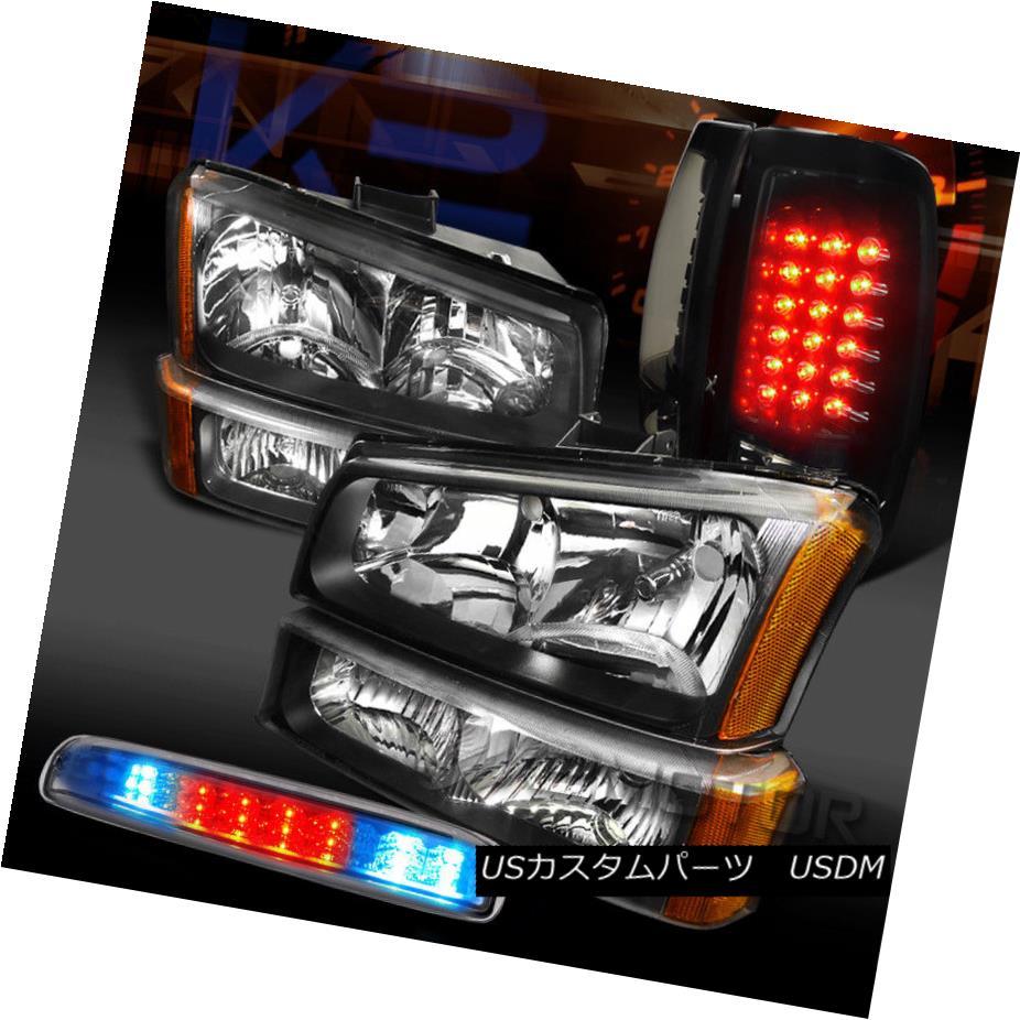 ヘッドライト 03-06 Silverado Headlights+Glossy Black LED Tail Lamps+Clear LED 3rd Brake 03-06 Silveradoヘッドライト+グロー ssyブラックLEDテールランプ+クリアLED第3ブレーキ
