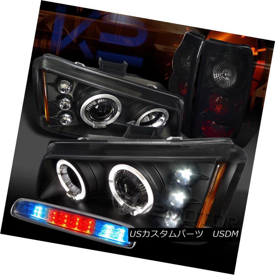 ヘッドライト 03-06 Silverado Halo Projector Headlights+Piano Black Tail Lamps+LED 3rd Stop 03-06 Silverado Haloプロジェクターヘッドライト+ピアノ ブラックテールランプなし+ LED 3ストップ