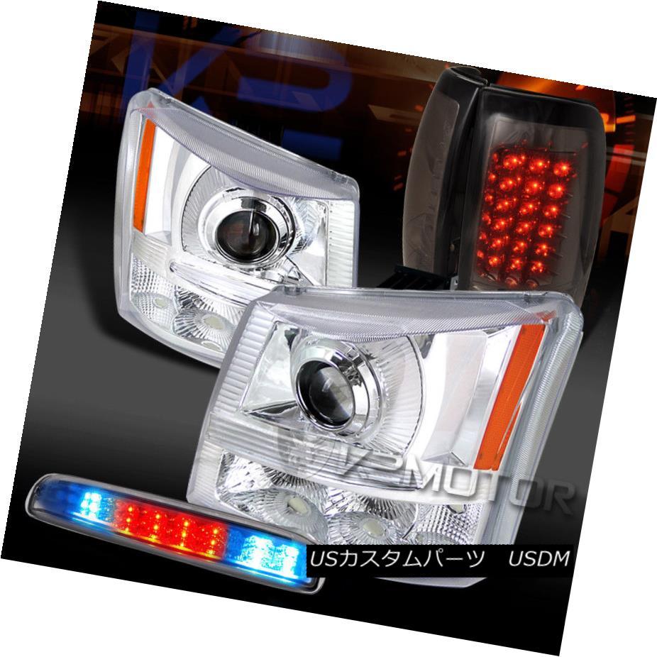 ヘッドライト 03-06 Silverado Clear Projector Headlights+LED 3rd Stop+Smoke LED Tail Lamps 03-06 Silveradoクリアプロジェクターヘッドライト+ LED 3ストップ+スモークLEDテールランプ