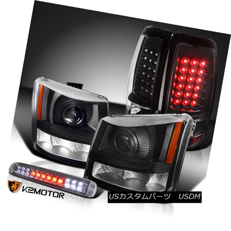 ヘッドライト 03-06 Silverado Projector Headlights+Black LED Tail Lamps+Smoke LED 3rd Brake 03-06 Silveradoプロジェクターヘッドライト+ Bla  ck LEDテールランプ+ Smoke LED 3rdブレーキ