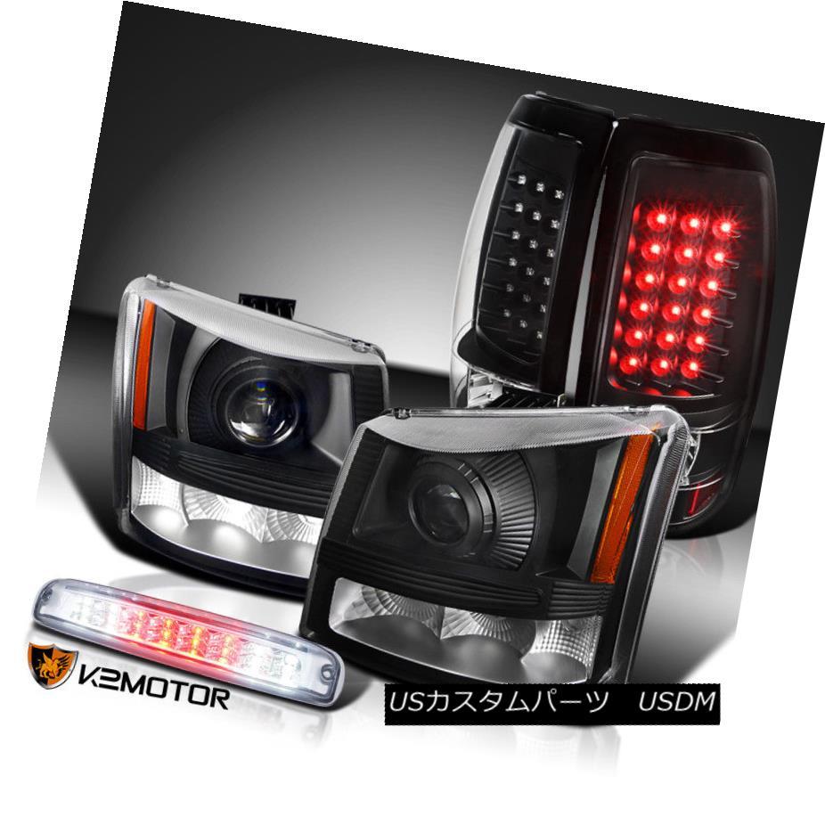 ヘッドライト 03-06 Silverado Projector Headlights+Black LED Tail Lamps+Clear LED 3rd Brake 03-06 Silveradoプロジェクターヘッドライト+ Bla  ck LEDテールランプ+ Clear LED 3rdブレーキ