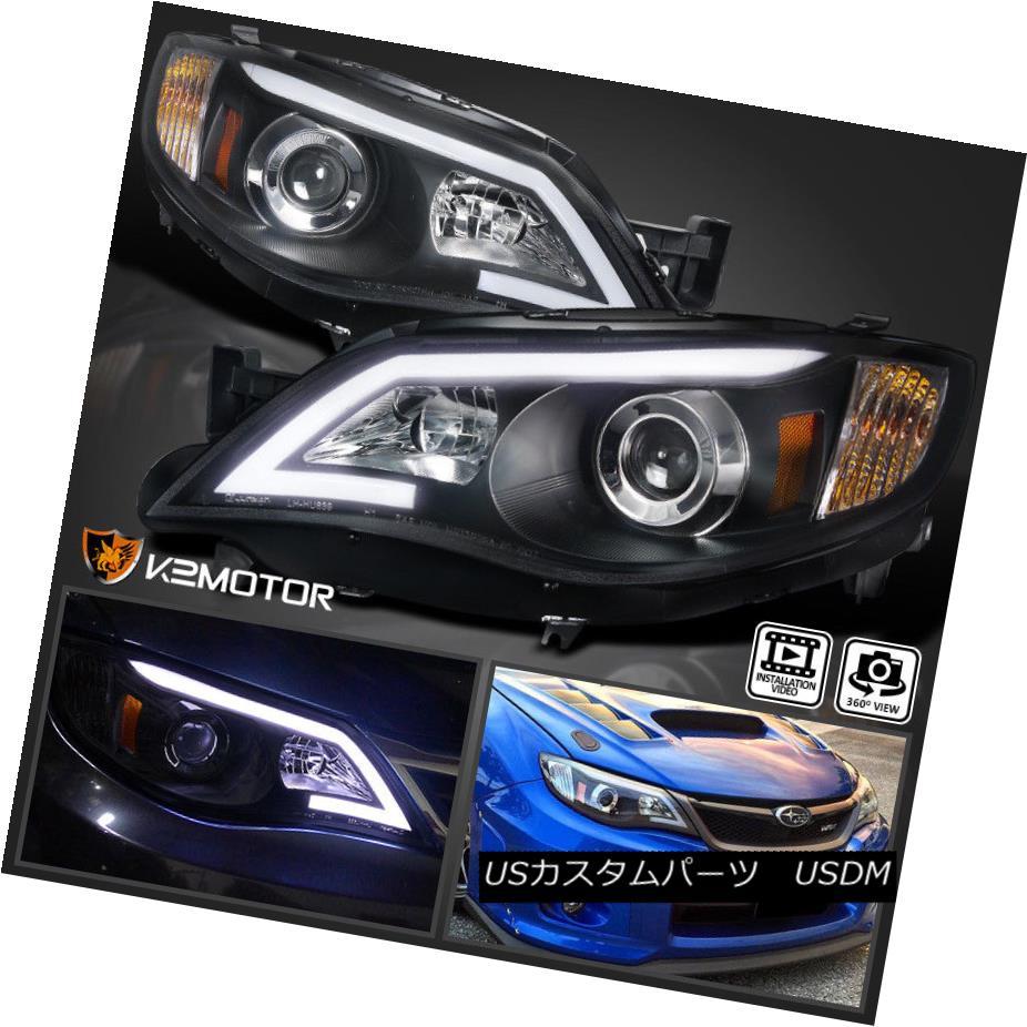 ヘッドライト For Subaru 08-14 Impreza WRX 08-11 Outback Sport LED Projector Headlights Blk スバル08-14インプレッサWRX 08-11アウトバックスポーツ用LEDプロジェクタヘッドライトBlk