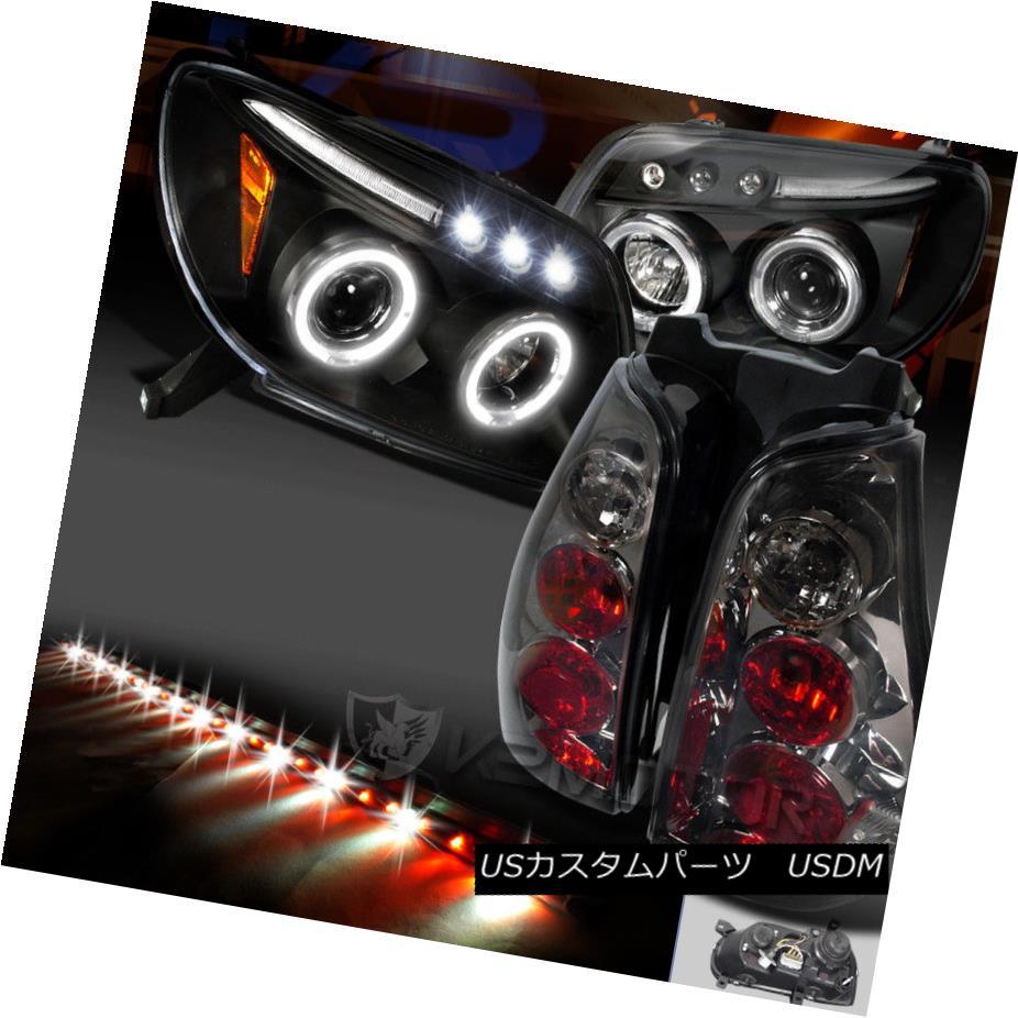 ヘッドライト Fit 03-05 4Runner LED Black Projector Headlight+Smoke Tail Lamp+49