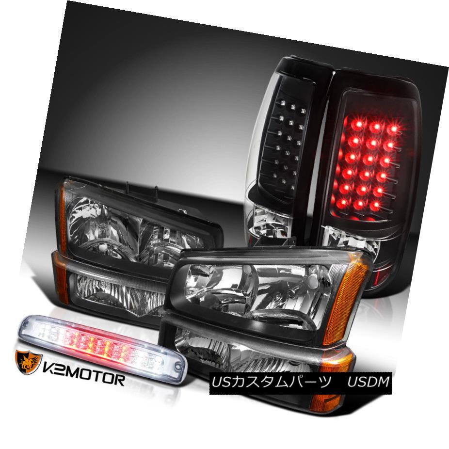ヘッドライト 03-06 Silverado Crystal Headlights+Black LED Tail Lamps+Clear LED 3rd Brake 03-06 Silveradoクリスタルヘッドライト+ Bla  ck LEDテールランプ+ Clear LED 3rdブレーキ