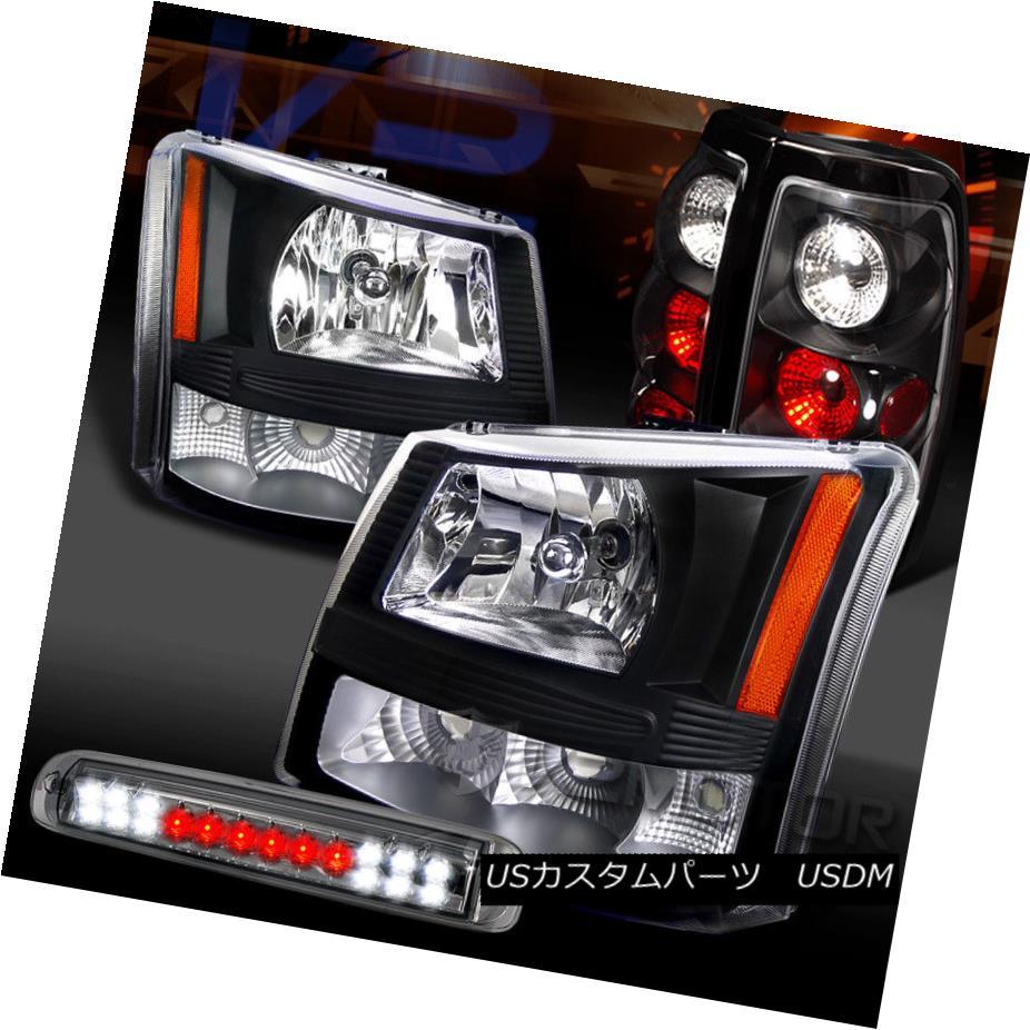 出色 車用品 バイク用品 >> パーツ ライト ランプ ヘッドライト 03-06 Silverado Black Light Brake Headlights+Tail 年中無休 lランプ+スモークLED 3rd Tai Lamp+Smoke 3rdブレーキライト LED Blackヘッドライト+