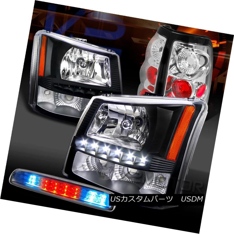 ヘッドライト 03-06 Silverado Black SMD DRL Headlights+Chrome Tail Lamps+LED 3rd Brake 03-06 Silverado Black SMD DRLヘッドライト+ Chr  omeテールランプ+ LED 3rdブレーキ