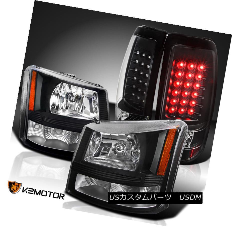 ヘッドライト 03-06 Silverado 1500/2500 Black 2in1 Headlights+Bumper Lamps+LED Tail Lights 03-06 Silverado 1500/2500 Black 2in1ヘッドライト+バーン 、ランプ+ LEDテールライト