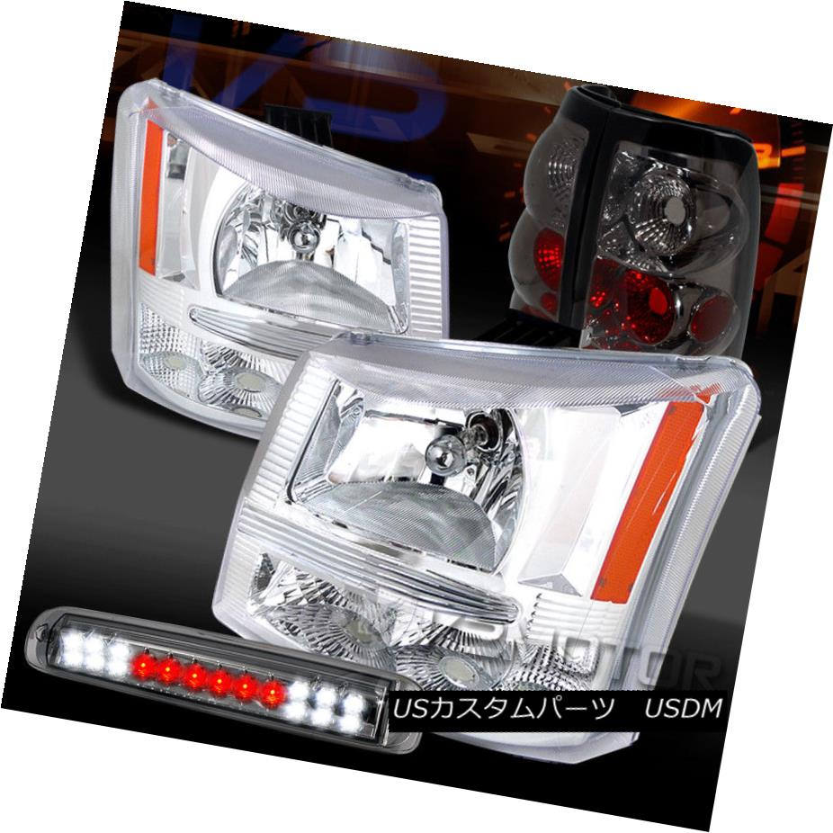 ヘッドライト 03-06 Silverado Chrome Headlights+Smoke Tail Lamps+LED 3rd Brake Light 03-06 Silverado Chromeヘッドライト+ Smo  keテールランプ+ LED第3ブレーキライト