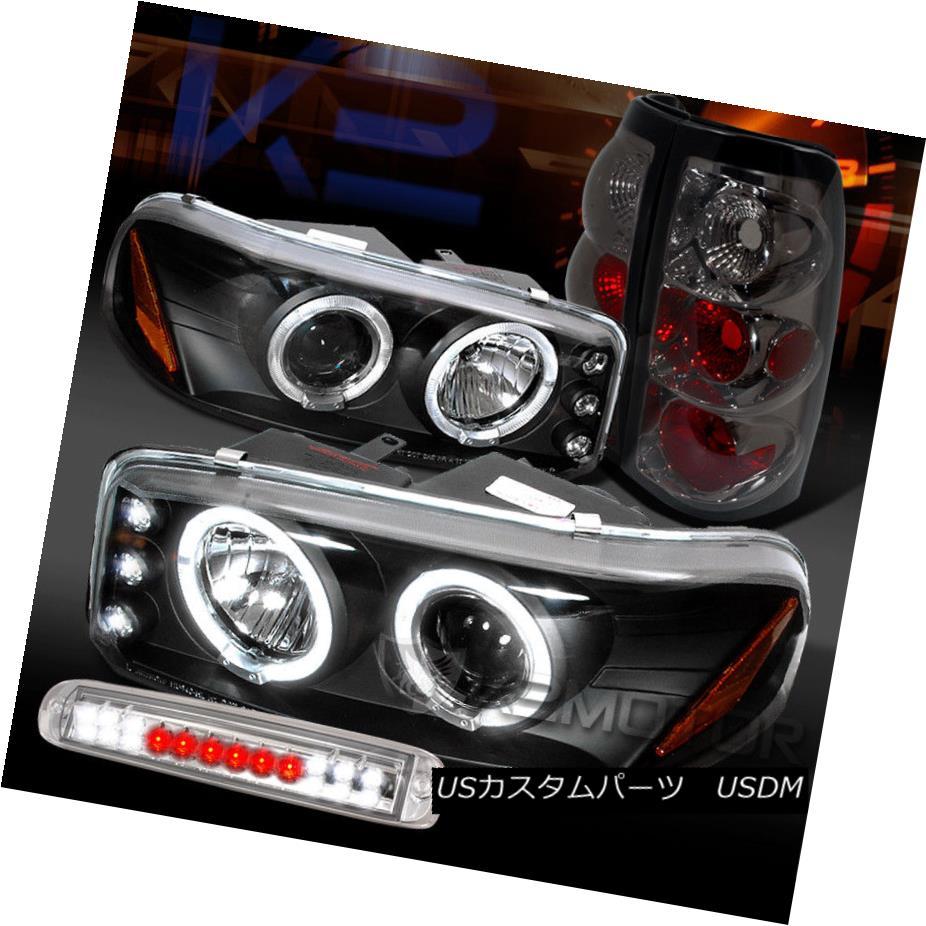 ヘッドライト 04-06 Sierra Black Projector Headlights+Smoke Tail Lamps+Clear LED 3rd Brake 04-06シエラブラックプロジェクターヘッドライト+スモーキー keテールランプ+クリアLED第3ブレーキ