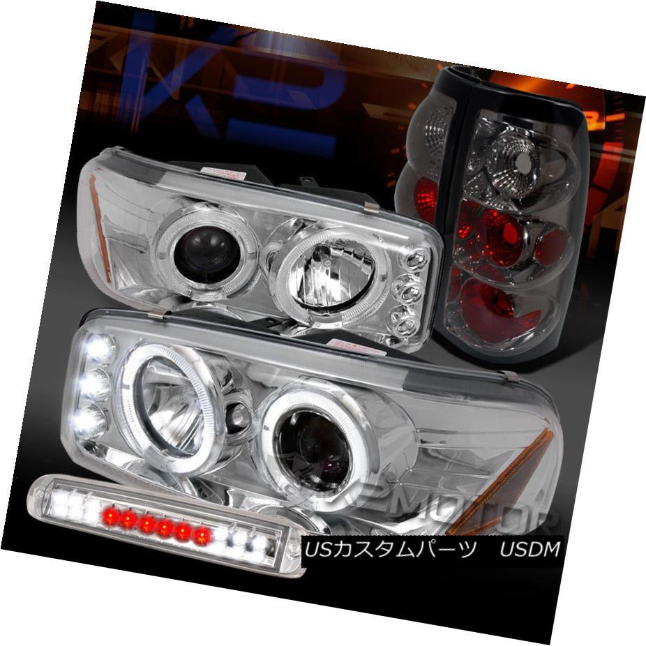 ヘッドライト 04-06 Sierra Chrome Projector Headlights+LED 3rd Brake+Smoke Tail Lamps 04-06シエラ・クローム・プロジェクター・ヘッドライト+ LED第3ブレーキ+煙テールランプ
