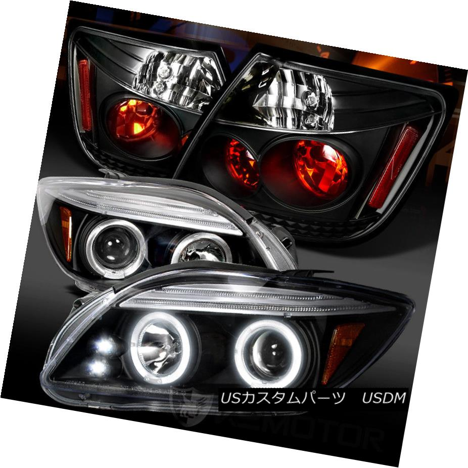 ヘッドライト 05-10 Scion tC Black LED Halo Projector Headlights+Rear Tail Lamps 05-10 Scion tC Black LEDハロープロジェクターヘッドライト+リア rテールランプ