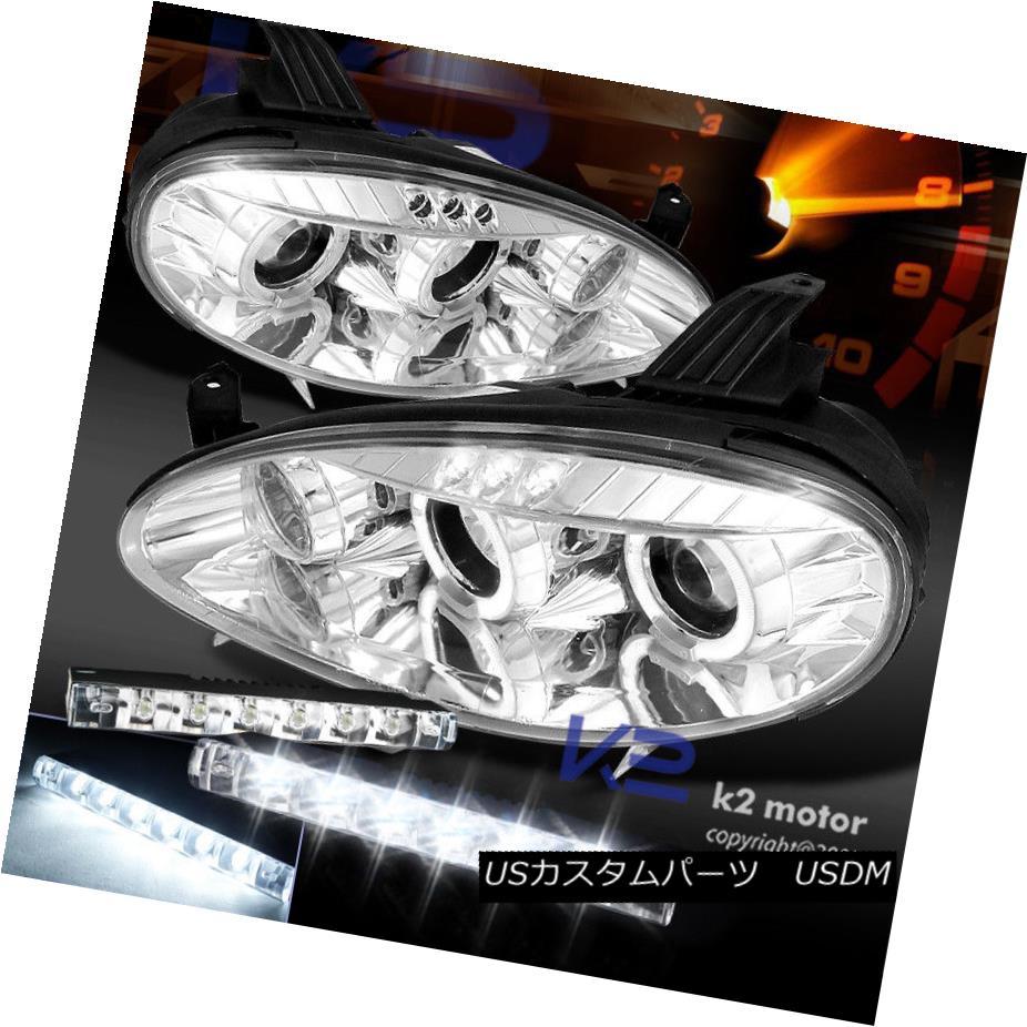ヘッドライト 01-05 Mazda Mx-5 Miata Chrome Halo Projector Headlights+ 6 LED DRL Fog Lamp 01-05マツダMx-5 Miata Chrome Haloプロジェクターヘッドライト+ 6 LED DRLフォグランプ